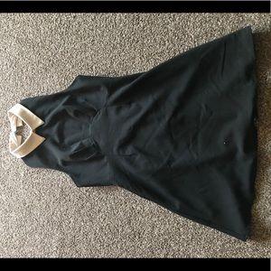 Black Nasty Gal dress with white collar